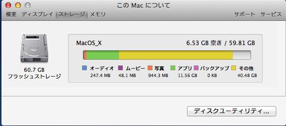 Mac Book Airのストレージの交換_6